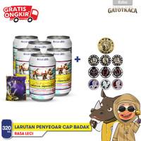 Paket 6 pcs Larutan Penyegar Cap Badak rasa Leci edisi GATOTKACA KOIN