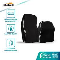 Mobeo Bantal Sandaran Jok Mobil Headrest & Lumbar Design Memory Foam