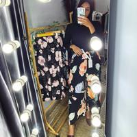 Celana Kulot wanita Motif bunga RAYON Premium