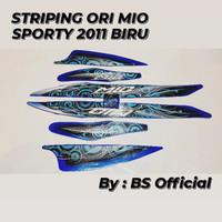 Stiker Striping Ori Motor Yamaha Mio Sporty 2011 Biru