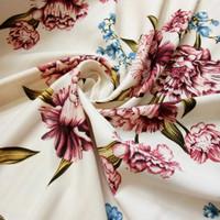 bahan kain baloteli flower kain dress gamis atasan tunik