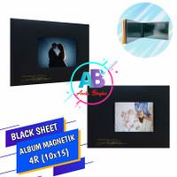 Album Foto Magnetik 4R isi 10 Lembar Album Kolase Tempel Black Sheet