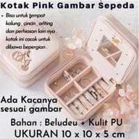 Kotak Penyimpan Perhiasan Jewerly Box Anting & Kalung K278 - 276 Pink Sepeda