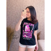 Kaos Wanita Lengan Pendek ADIROSE / Baju Atasan Cewek - Hitam