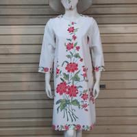 baju batik wanita dress tunik batik encim - M