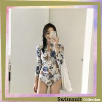 Swimsuit Colletion Baju Renang Wanita Rashguard Lengan Panjang 8028