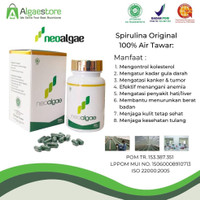 Neoalgae Spirulina - isi 60 Kapsul   Suplemen - Superfood - Masker