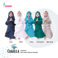 CML Gamis anak syari set hijab baju muslim anak perempuan polos katun