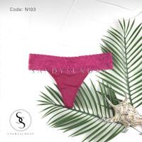 G-STRING Renda Atas   Celana Dalam Wanita Sexy   Thong Motif - N103, Freesize