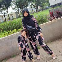 PIYAMA COUPLE IBU DAN ANAK 2-7 TH - S