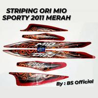 Stiker Striping Ori Motor Yamaha Mio Sporty 2011 Merah