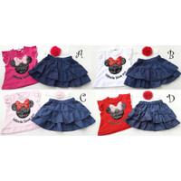 Baju Setelan anak cewek perempuan fashion pergi jalan J499 Babybell