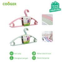 COOGER 5 Pcs Hanger Gantungan Baju Anti Selip