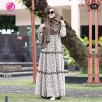 Khumairah Dres muslim wanita - Mocca, 4XL