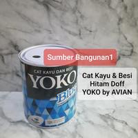 Cat Kayu dan Besi Hitam Doff dop super black matt YOKO by AVIAN
