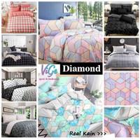 Vige Bedcover Set Katun Motif Diamond Size Single   Bad Cover Set
