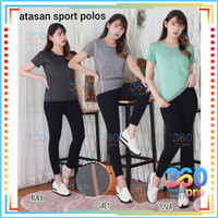 Atasan Sport Wanita Import baju yoga senam running fitness
