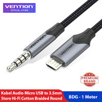 Vention Kabel Aux Audio 3.5mm to Micro USB Braided - BDG, 1 Meter