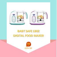 Digital Food Maker Baby Safe LB02 Blender Steam Alat Pembuat Makanan - Biru Muda, No Bubblewrap