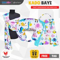 Kado Bayi / Kado Lahiran Paket Menyusui (Bantal, Apron dan Gendongan)