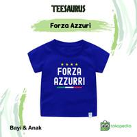 Baju Kaos FORZA AZZURI Untuk Bayi dan Anak Bahan Katun Combed 30s