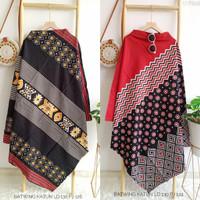 Baju Batwing Katun Jumbo Wanita/Fashion Atasan Batik OOTD Terbaru Cewe