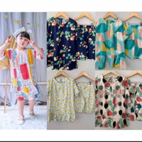 setelan baju tidur anak perempuan Bahan Rayon1-5 thn / baju tidur anak - 1thn