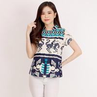 569-Atasan Batik-Bluose Batik Wanita Lengan Pendek Viola