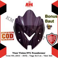 Visor Windshield Vixion NVL 2012 2013 2014 Model Transformer Hitam