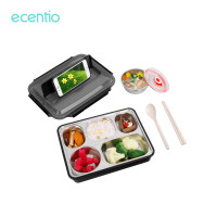 ecentio1.2Lkotak makan siang kapasitas besar stainless steel lunch box