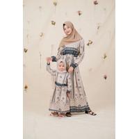 Baju Muslim Family Set : Gamis Couple Ibu Anak Rayon Premium Kekinian