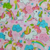Bantal kepala bayi anti peyang / Bantal Bayi Bahan L D087 - KudaPony Pink