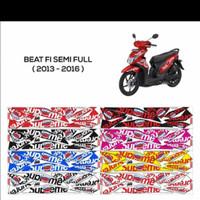 Sticker striping variasi Beat FI 2013-2015 motif supreme