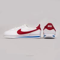 Sepatu NIKE Cortez Basic White Red - 4