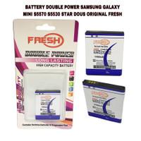 BATTERY BATERAI DOUBLE POWER SAMSUNG GALAXY MINI S5570 ORIGINAL FRESH