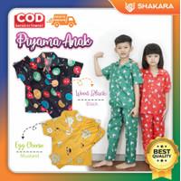 Piyama Anak / Baju tidur anak laki-laki / perempuan usia 6-12 tahun