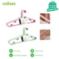 COOGER 5 Pcs Hanger Anti Selip Multifungsi