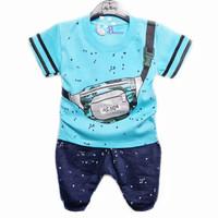 Setelan baju anak laki laki usia 3 6 9 12 bulan baju cowok baby boy
