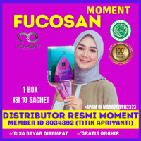 Minuman Pelangsing Fucosan Moment Untuk Diet Detoks Original 10 Sachet