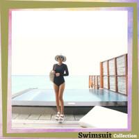 Swimsuit Baju Renang Wanita Fashion Renda Lengan panjang Import 8046