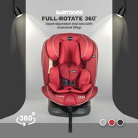 Carseat Babydoes Full Rotate 360 Isofix - Merah