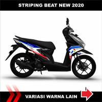 Sticker striping variasi Beat FI 2020 motif Mandalika racing team