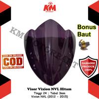 Visor Windshield Yamaha Vixion Lama Old NVL 2012 2013 2014 2015 Hitam
