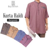 Baju Pakistan Qurta Haldi by Nazeer - Baju Kurta Haldi Nazeer - Burgundy, M