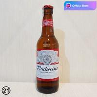 ORIGINAL ASLI Import Bir Budweiser Beer Lager America 330ml
