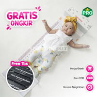 Pengukur Panjang Bayi Premium 'Playful White' untuk Puskesmas