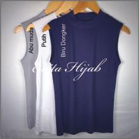 Baju Manset / Baselayer Tanpa Lengan Wanita Bahan Kaos Premium Size L