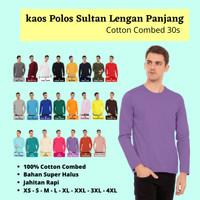 Kaos Polos Pria Lengan Panjang Cotton Combed 30s Warna Ungu