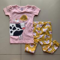 Baju Tidur Anak Perempuan Carter Pink Cow