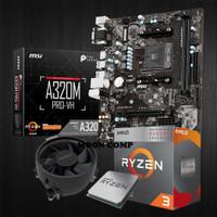 Paketan Mobo Processor | Ryzen 3 3200G | MSI A320M | RAM 8GB 2666Mhz